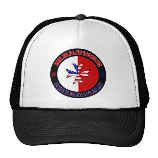 Bandera cruzada americana maltesa gorro