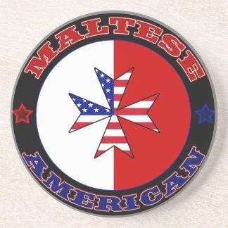 Bandera cruzada americana maltesa posavasos manualidades