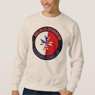 Bandera cruzada americana maltesa sudadera con capucha