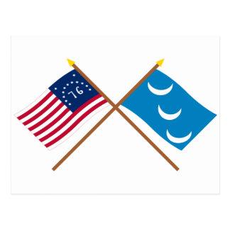 Bandera cruzada de la milicia de Bennington y de Postal
