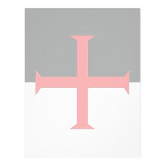 Bandera cruzada de Templar de los caballeros Membretes Personalizados