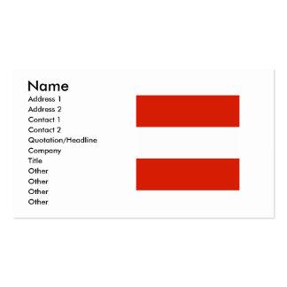 Bandera cuadrada de Austria Tarjetas De Visita