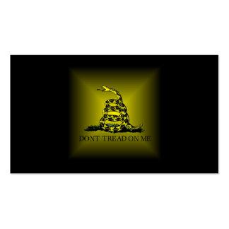Bandera cuadrada de Gadsden del resplandor solar Tarjetas De Visita