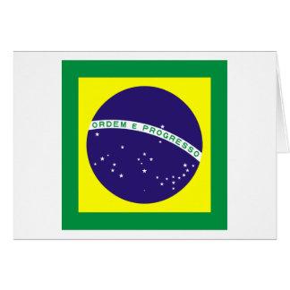 Bandera cuadrada del Brasil Tarjeta De Felicitación