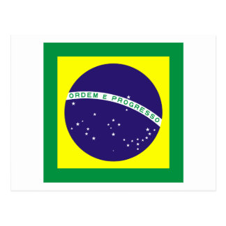 Bandera cuadrada del Brasil Tarjeta Postal