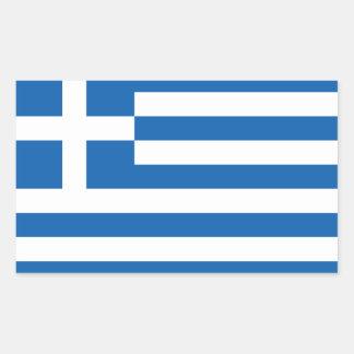"""Bandera CUATRO de Grecia """"ΕΛΛΆΔΑ """" Pegatina Rectangular"""