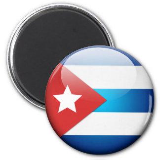 Bandera cubana 2,0 imán redondo 5 cm