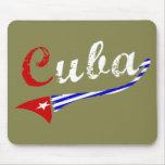 Bandera cubana alfombrilla de ratones