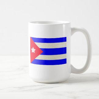 Bandera cubana de cerámica y orgullo - taza de café