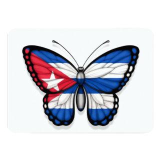 Bandera cubana de la mariposa anuncio personalizado