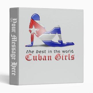 """Bandera cubana de la silueta del chica carpeta 1"""""""