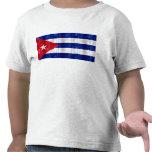 Bandera cubana de madera camiseta