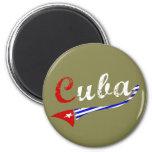 Bandera cubana imán redondo 5 cm