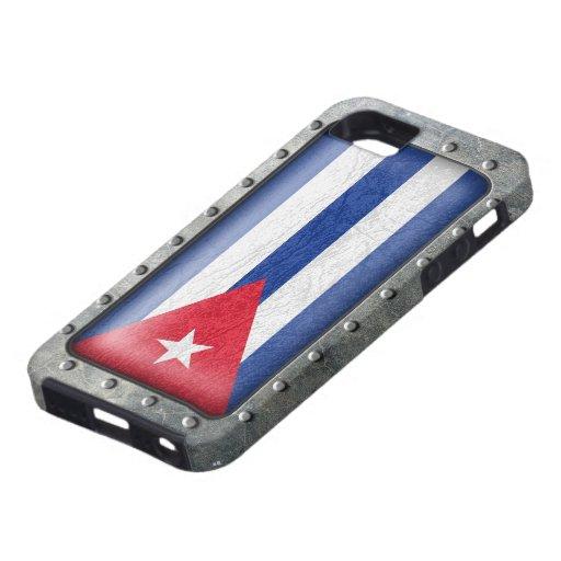 Bandera cubana industrial iPhone 5 Case-Mate coberturas