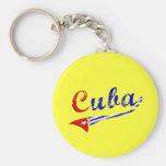Bandera cubana llavero personalizado