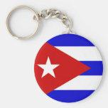 Bandera cubana llaveros