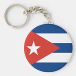 Bandera cubana llaveros personalizados