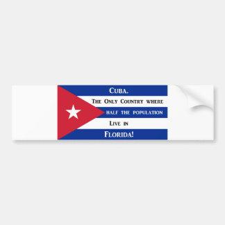 Bandera cubana pegatina para auto