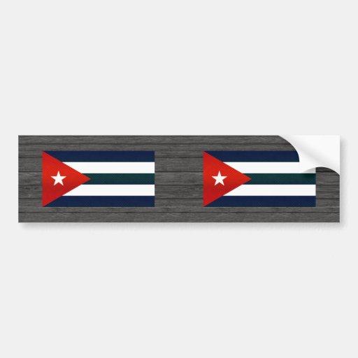 Bandera cubana pelada moderna pegatina de parachoque