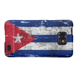 Bandera cubana rascada y llevada galaxy SII carcasas