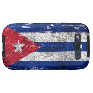 Bandera cubana rascada y llevada galaxy SIII fundas