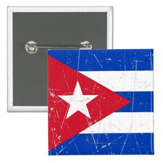 Bandera cubana rascada y rasguñada pins