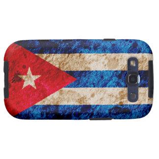 Bandera cubana rugosa galaxy s3 fundas