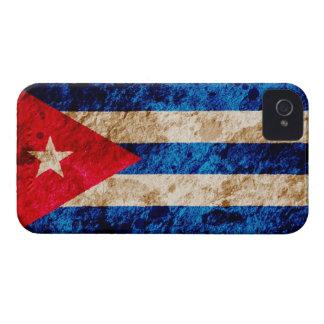 Bandera cubana rugosa iPhone 4 cárcasas