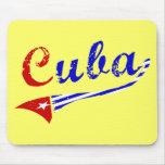 Bandera cubana tapete de ratón
