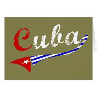 Bandera cubana tarjeta de felicitación