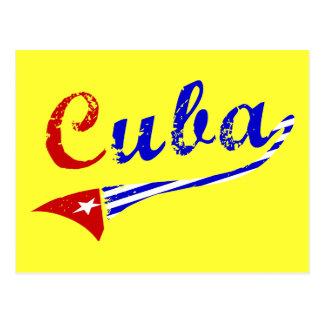 Bandera cubana postal