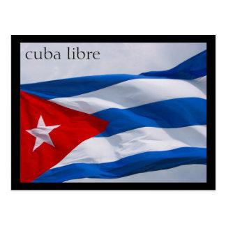 bandera cubana tarjeta postal