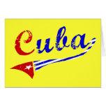 Bandera cubana tarjetón