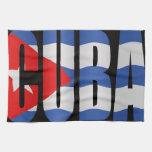 Bandera cubana toalla de mano