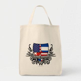 Bandera Cubano-Americana del escudo Bolsa Tela Para La Compra