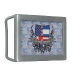 Bandera Cubano-Americana del escudo Hebillas De Cinturon
