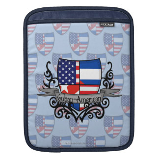 Bandera Cubano-Americana del escudo Mangas De iPad