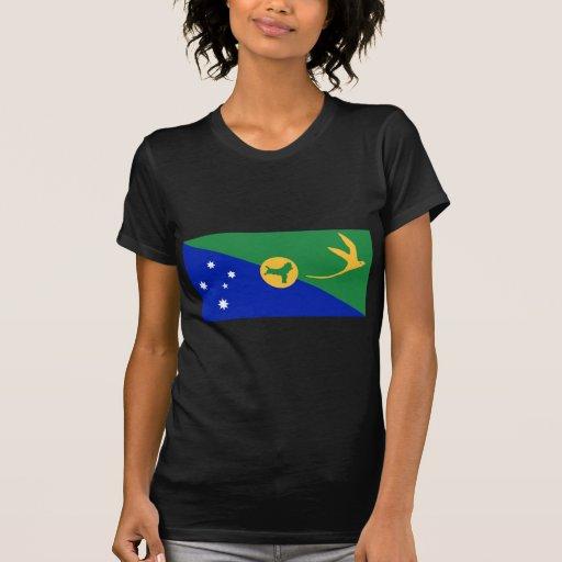 Bandera CX de la Isla de Navidad T Shirts