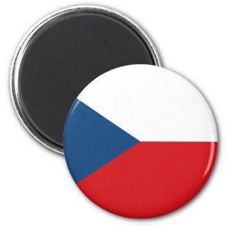 Bandera CZ de la República Checa Imán Redondo 5 Cm