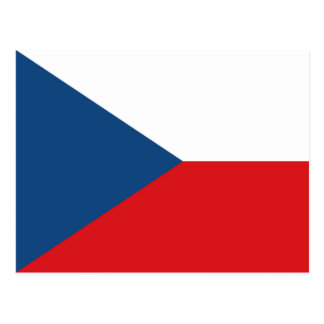 Bandera CZ de la República Checa Tarjeta Postal