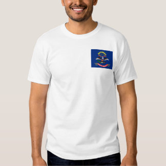 Bandera dakotense del norte + Camiseta del mapa Playeras