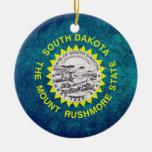 Bandera dakotense del sur ornamentos de navidad