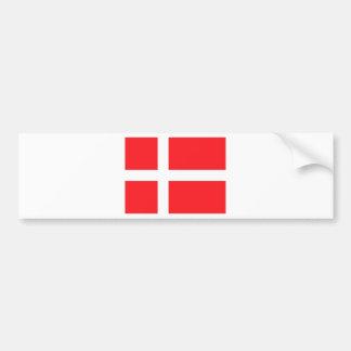 Bandera danesa pegatina de parachoque