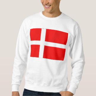 Bandera danesa de Dinamarca para los daneses Sudadera