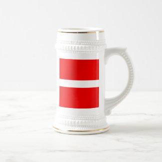 Bandera danesa de Dinamarca para los daneses Taza