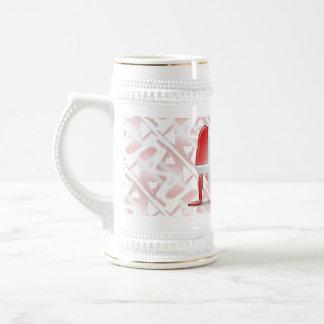 Bandera danesa de la silueta del chica tazas de café