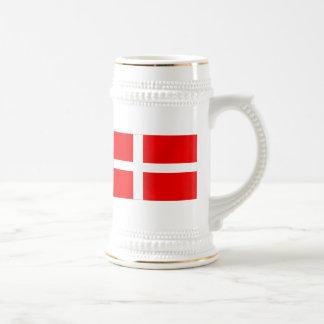 Bandera danesa de los regalos de Dinamarca para lo Tazas