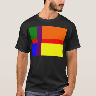 Bandera danesa del orgullo gay playera