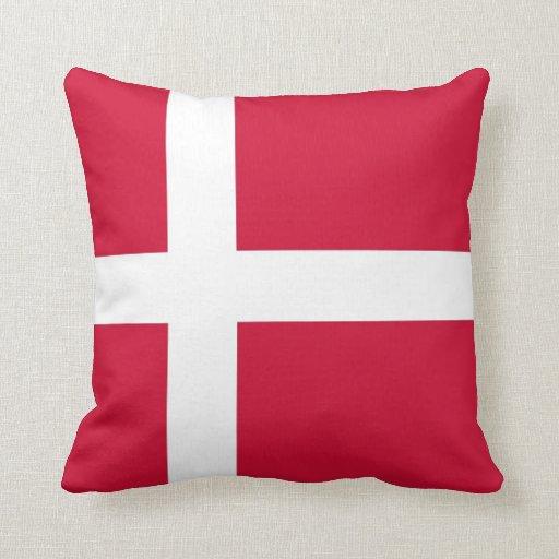 Bandera danesa en la almohada de MoJo del