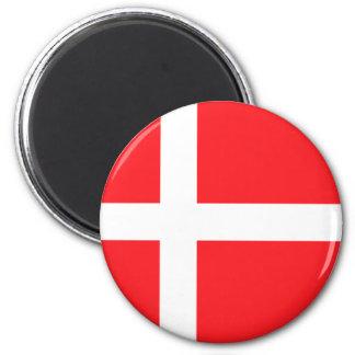 Bandera danesa imanes de nevera